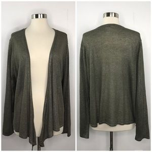 Chico's Shimmer Open Front Cardigan Size 3=XL(16)